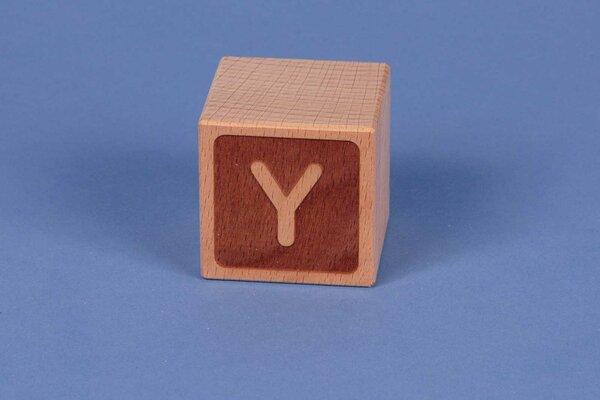 Cubes en lettres Y négatif