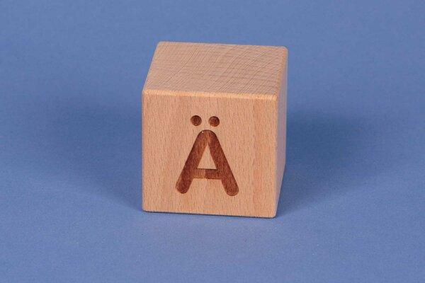 Cubes en lettres Ä positive