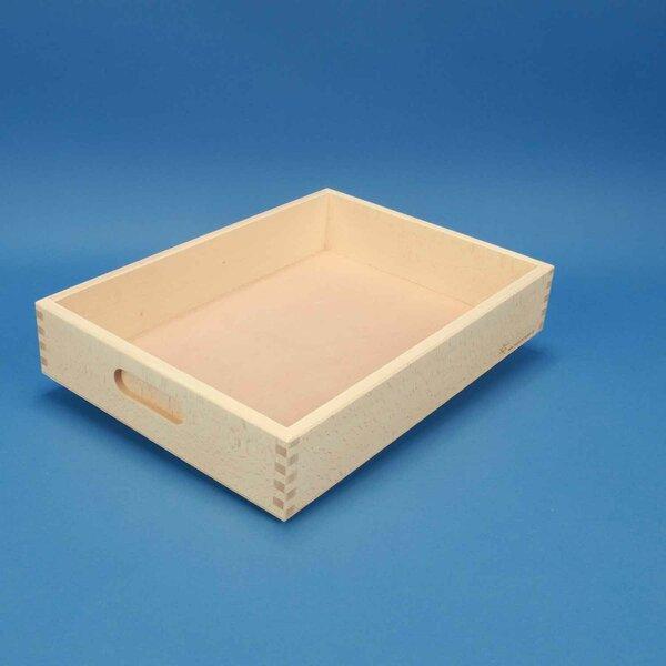 Caisse de rangement plate sans des blocs en bois