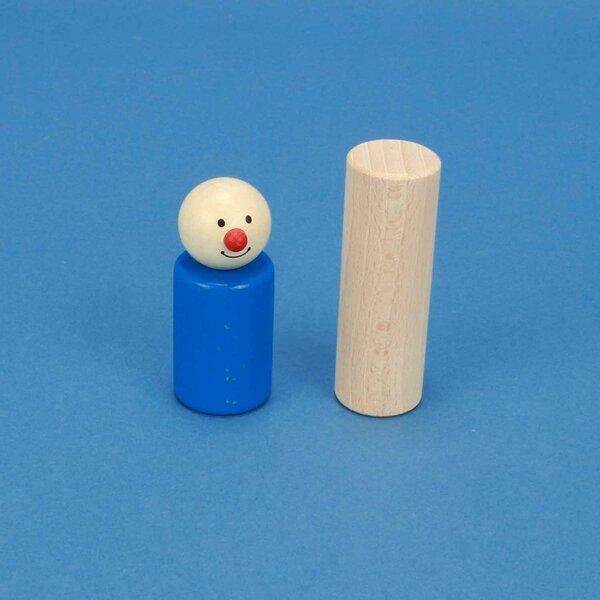 cylindres en hêtre Ø 2,5 x 7,5 cm