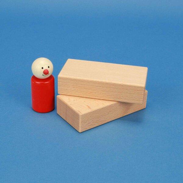 cubes en bois 10 x 5 x 2,5 cm