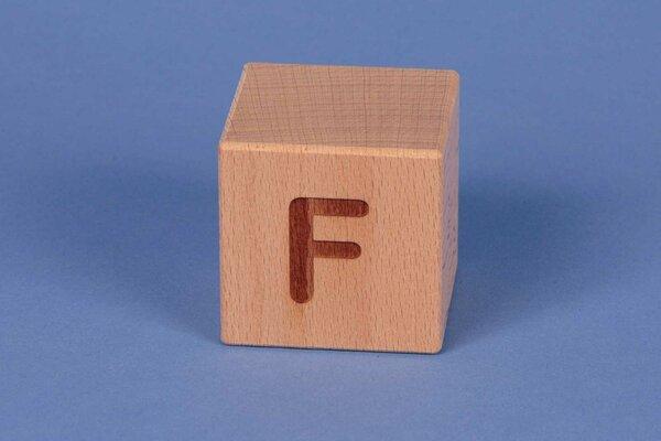 Cubes en lettres F positive