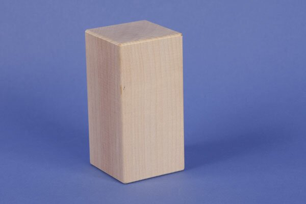 cubes en érable 9 x 4,5 x 4,5 cm