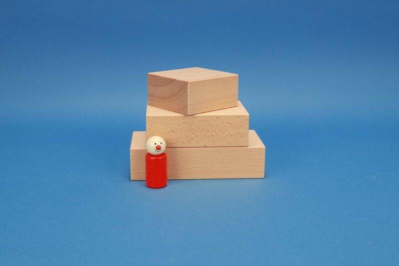 cubes en bois grandes 9 x 4,5 cm