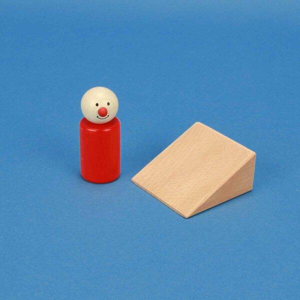 triangulaires cubes en bois 6 x 6 x 3 cm