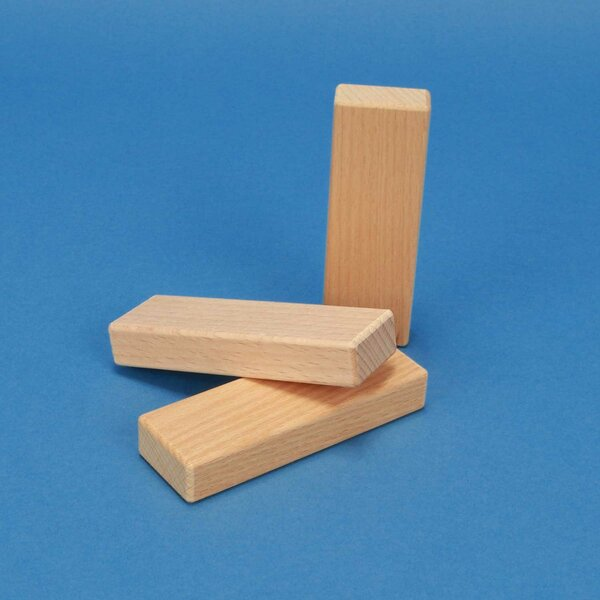 blocs de construction en bois 9 x 3 x 1,5 cm