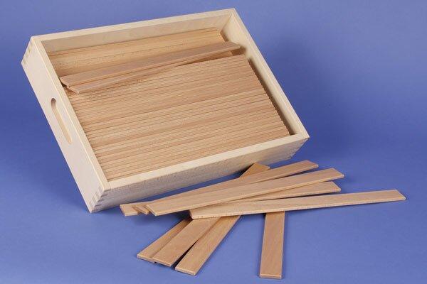 2x Pont de Leonardo de cubes en bois + caisse + laserengraving
