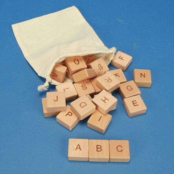 ABC-cubes en bois 30 pièces