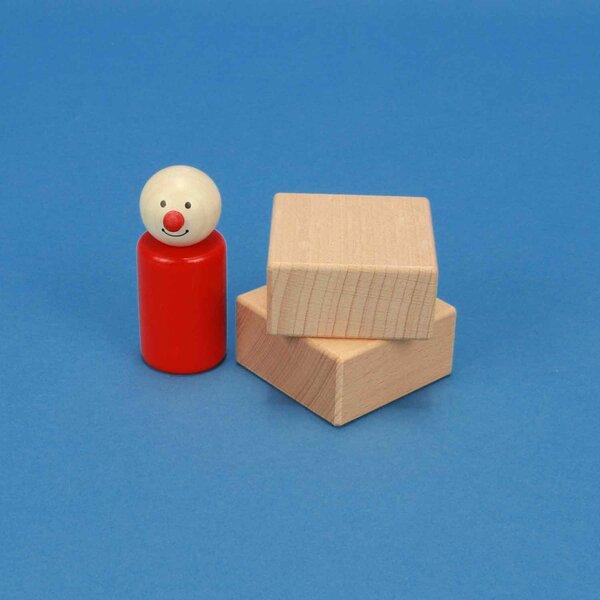 cubes en bois 5 x 5 x 2,5 cm