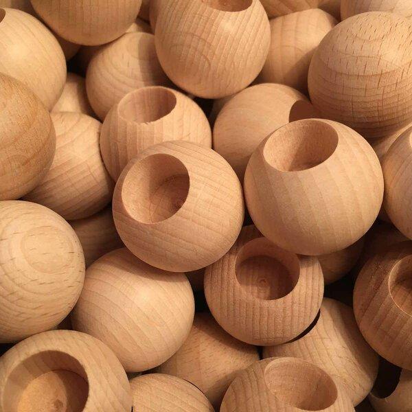 Boules en bois - Alésage speciales