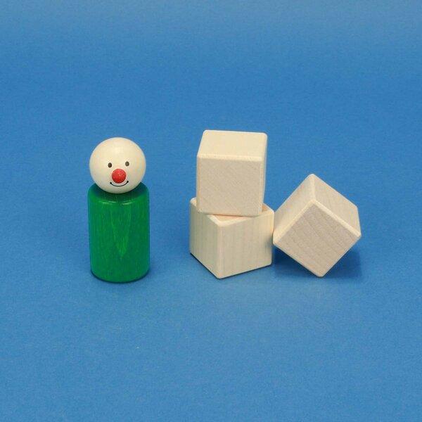 cubes en bois érable 3 cm