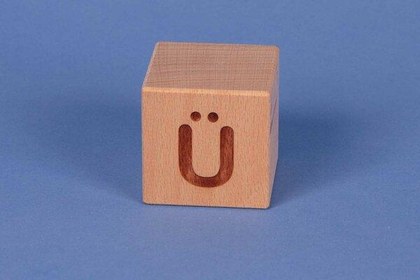 Cubes en lettres Ü positive