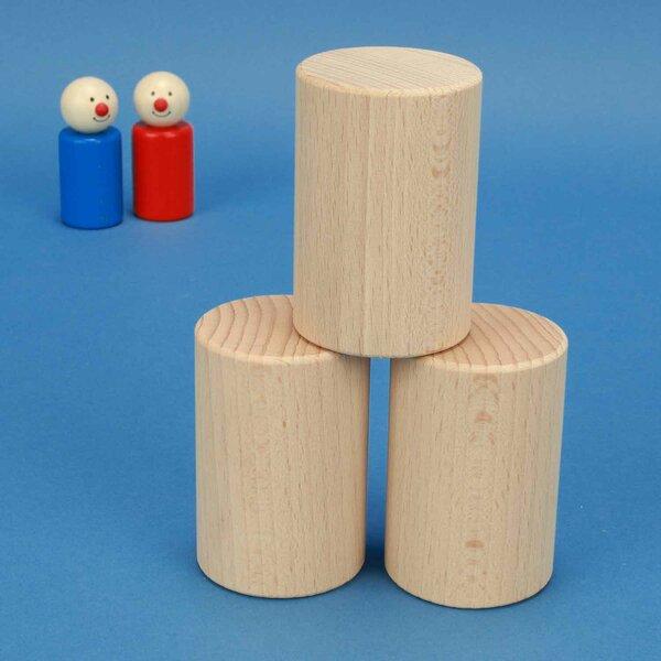 cylindres en hêtre Ø 5 x 7,5 cm