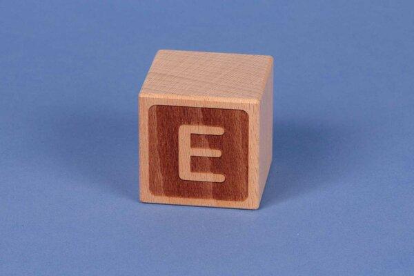Cubes en lettres E négatif