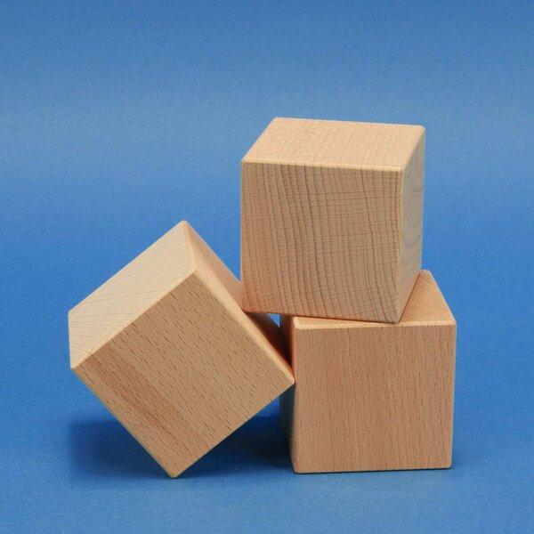 cubes en bois grands 7 cm