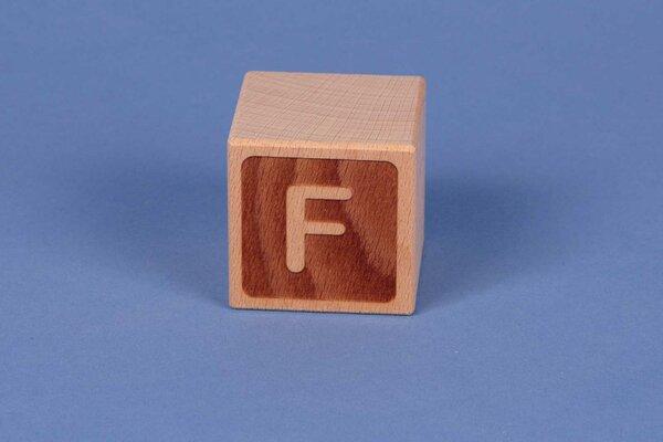 Cubes en lettres F négatif