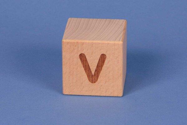 Cubes en lettres V positive