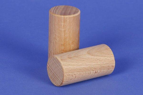cubes en bois rond Ø 3 x 6 cm