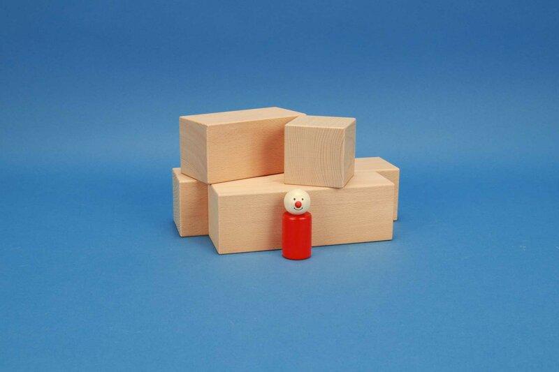 cubes en bois grandes 6 x 6 cm