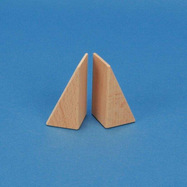 triangles en bois 6 x 3 x 3 cm