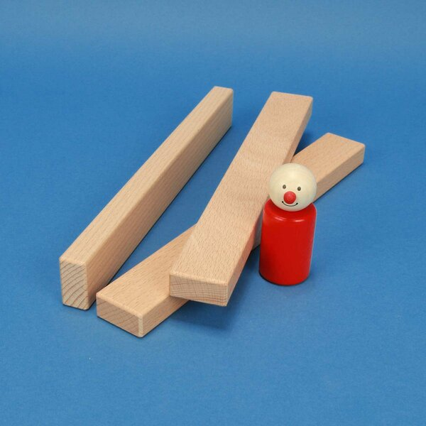 blocs de construction en bois 24 x 3 x 1,5 cm