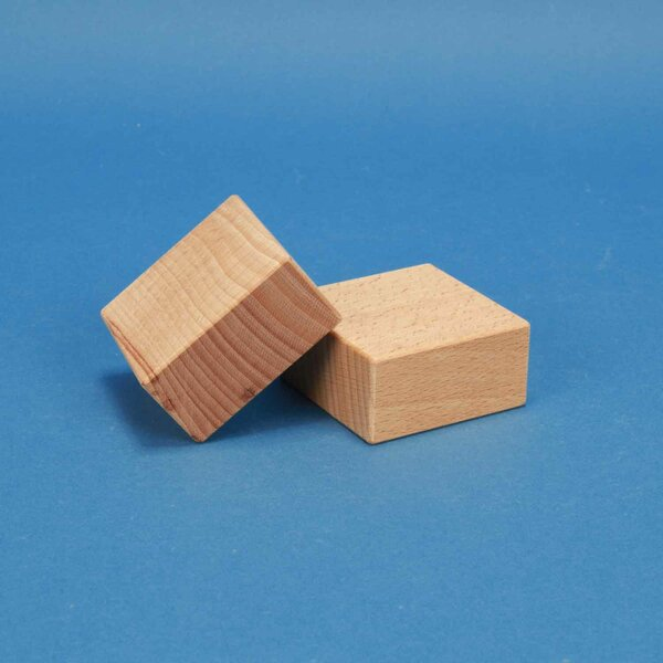 blocs de construction en bois 6 x 6 x 3 cm