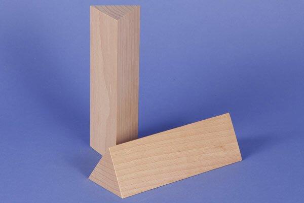 colonnes triangulaires 6 x 6 x 18 cm rectangulaire