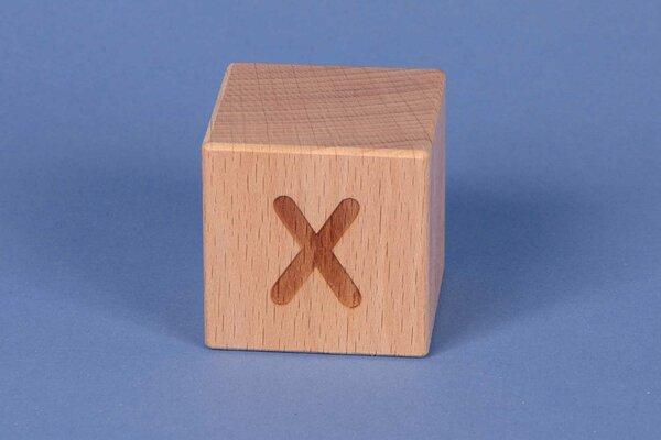 Cubes en lettres X positive