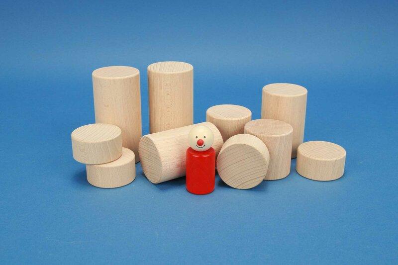 cylindre en bois Ø 2 inches
