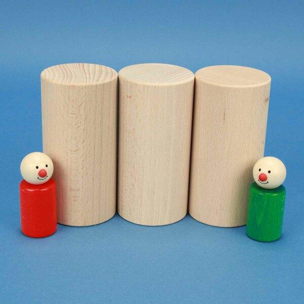 cubes en bois rond Ø 6 x 12 cm