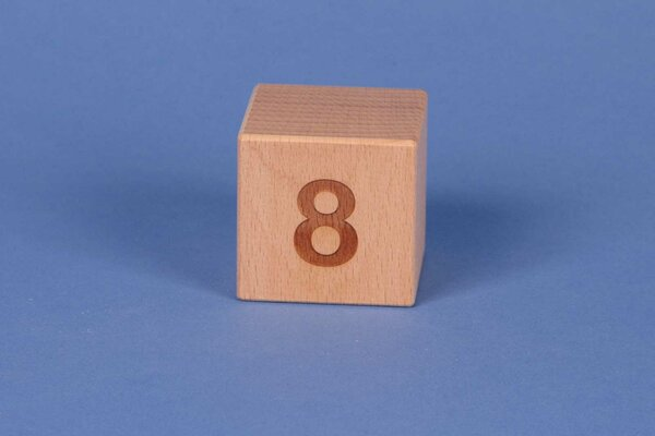 Cubes en lettres 8 positive