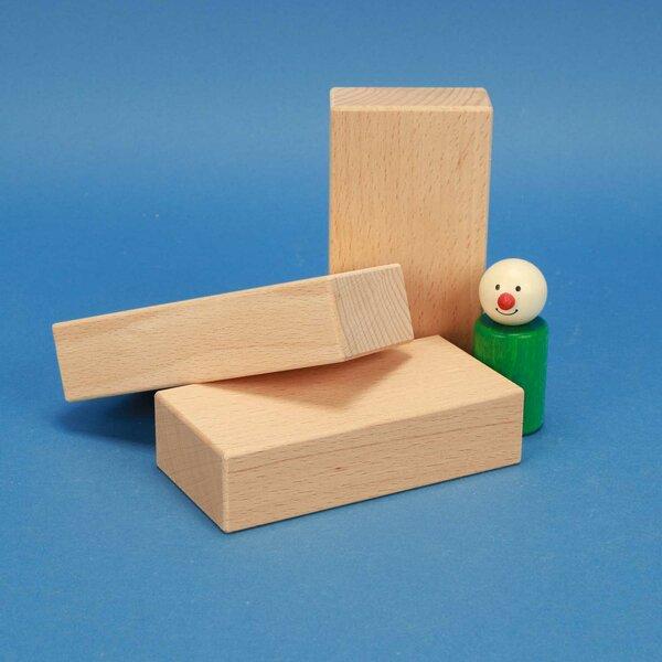 cubes de construction en bois 12 x 6 x 3 cm