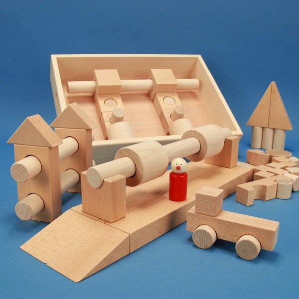 Jeu de cubes en bois Spécial 57 dans caisse + laserengraving