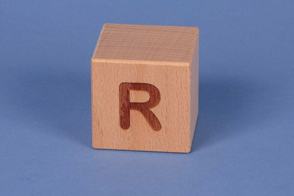 Cubes en lettres R positive