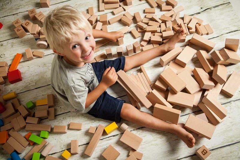 Cubes en bois unique