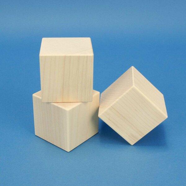 cubes en bois érable 6 cm