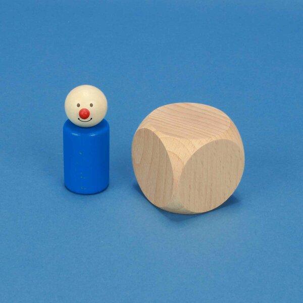 Dice en bois naturel 5 cm