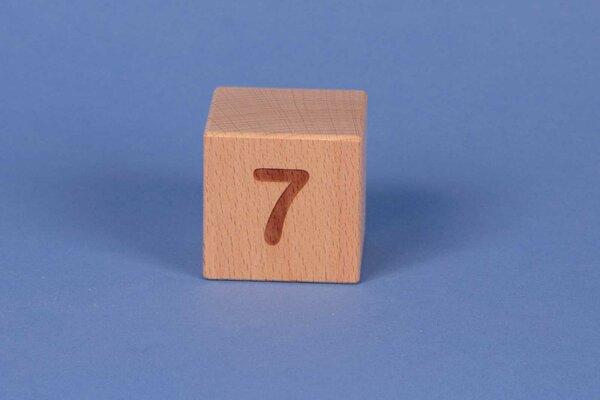 Cubes en lettres 7 positive