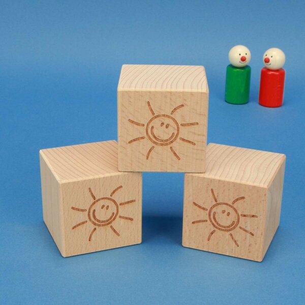 SMILE cubes en bois 6 cm