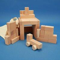 jeux de 50 blocs en bois sélectionnés avec auto