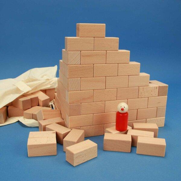 100 cubes de en bois 6 x 3 x 3 cm