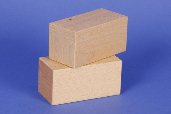 blocs de construction en bois grands 12 x 6 x 6 cm