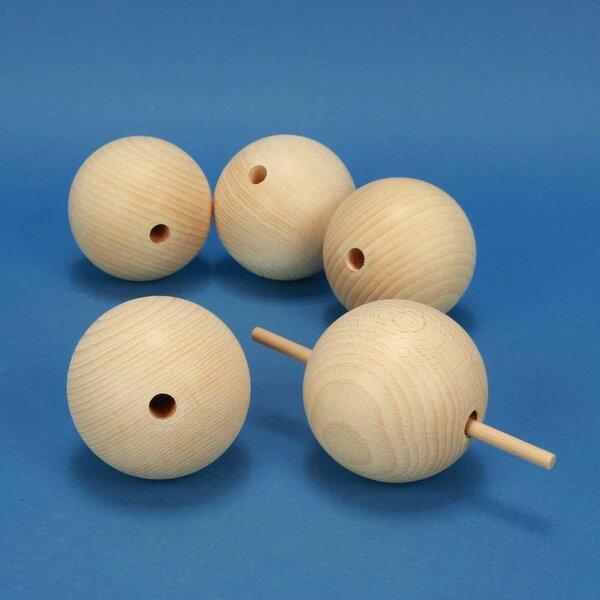 boules en bois Ø 80mm percès 10mm