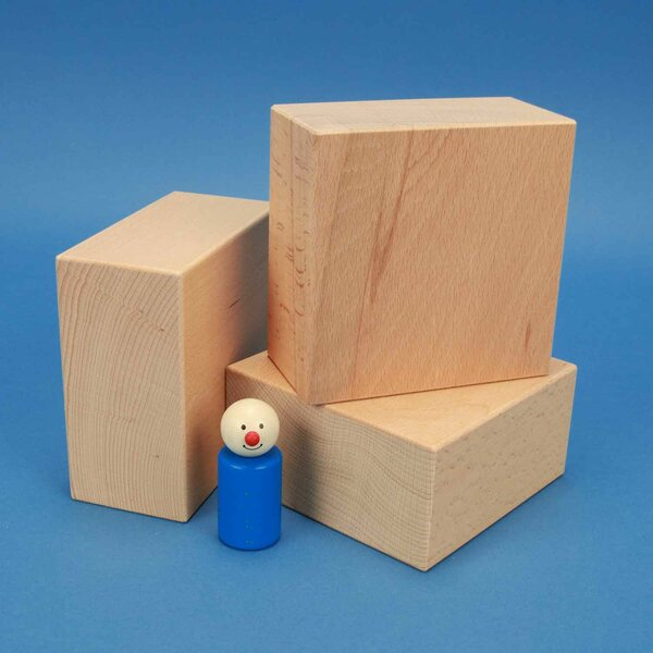 cubes de construction en bois grands 12 x 12 x 6 cm