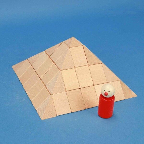 Ensemble de pyramide grande carrée 12 cm