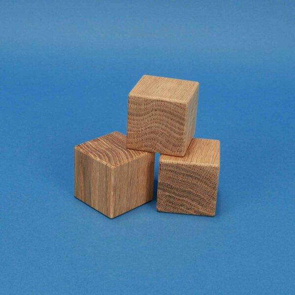 cubes en bois chêne 4,5 cm
