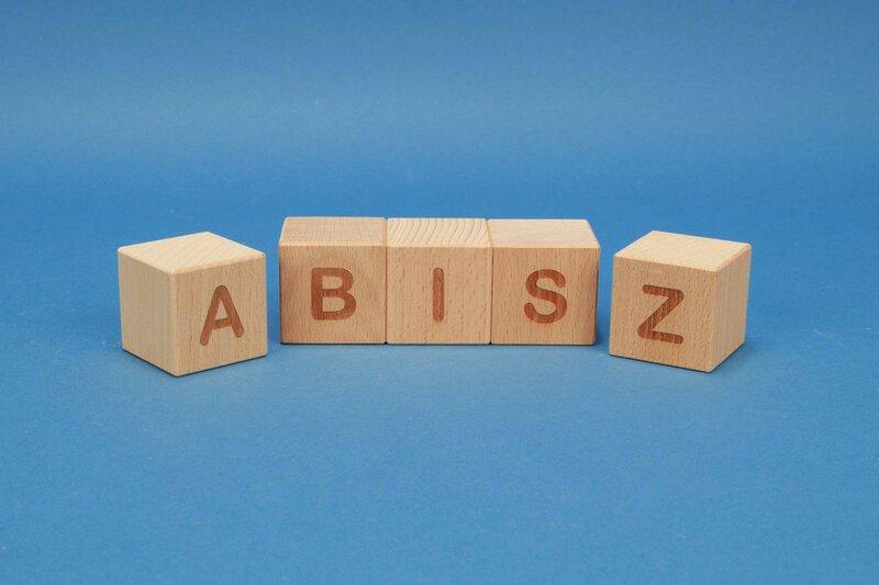 Cubes en lettres A-Z positive