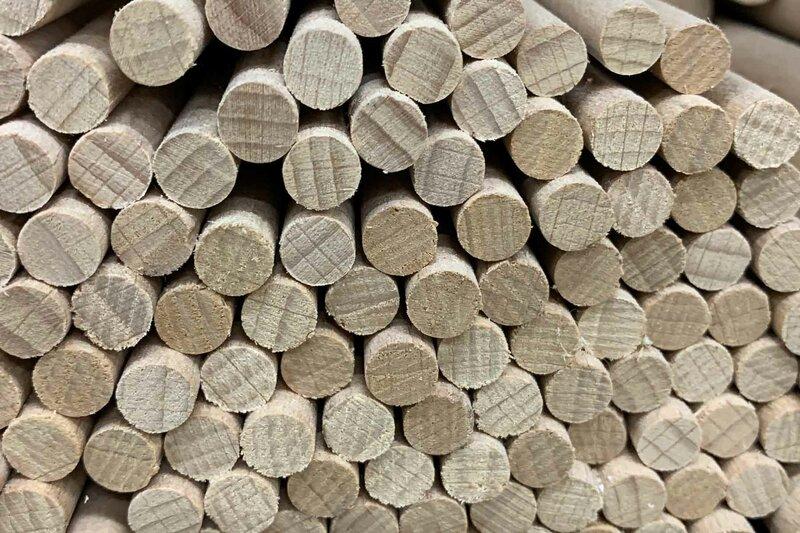 DIY-Tiges de bois ronde