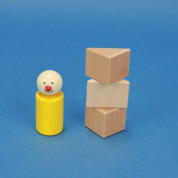 cubes en bois triangulaires 3 x 3 x 3 cm