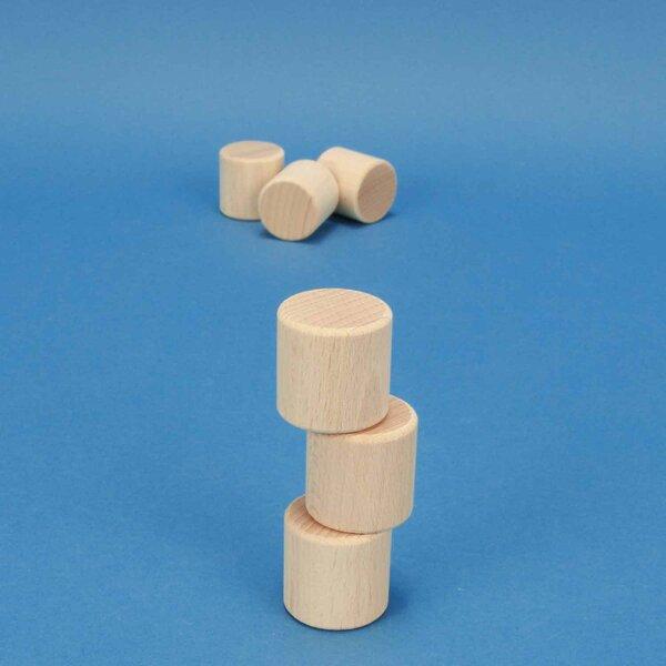 bloc de construction en bois rond Ø 3 x 3 cm